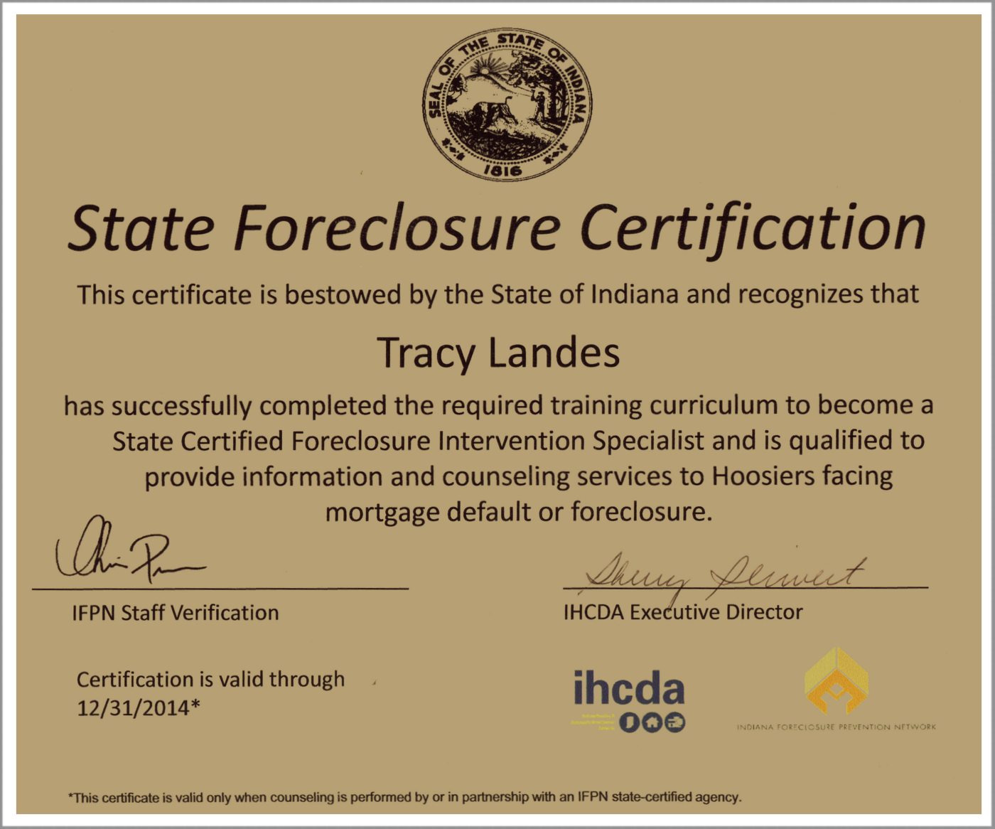 How to get a state housing certificate 84